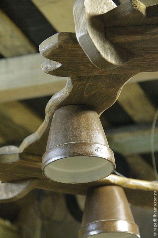 """Освещение ручной работы. Ярмарка Мастеров - ручная работа Люстра """"Деревенская"""". Handmade."""
