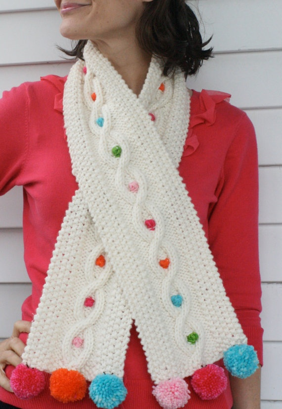 Pom Pom Yarn Knitting Patterns : Pom Pom cable knit knitting pattern. USD5 Pretty with Yarn Pinterest Cabl...