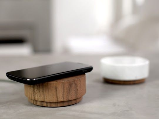 As smooth and round as a river stone, Orée's 'Pebble' is a wireless 360˚ speaker that doubles as a smartphone charging pad, made by hand from a single block of walnut or maple wood.  #fathersday #lethimgetlost  http://sorrythanksiloveyou.com/accessories/technology/pebble-2-oree