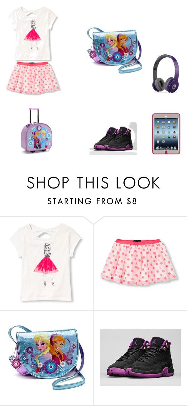 """""""travel outfit"""" by oyinkosola on Polyvore featuring The Children's Place, Disney, NIKE and Beats by Dr. Dre"""