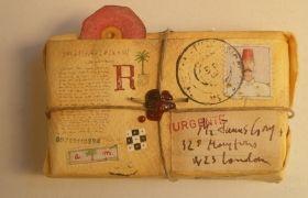 Gift / Colonie, acquarello su carta, cm 7 x 11 x 13