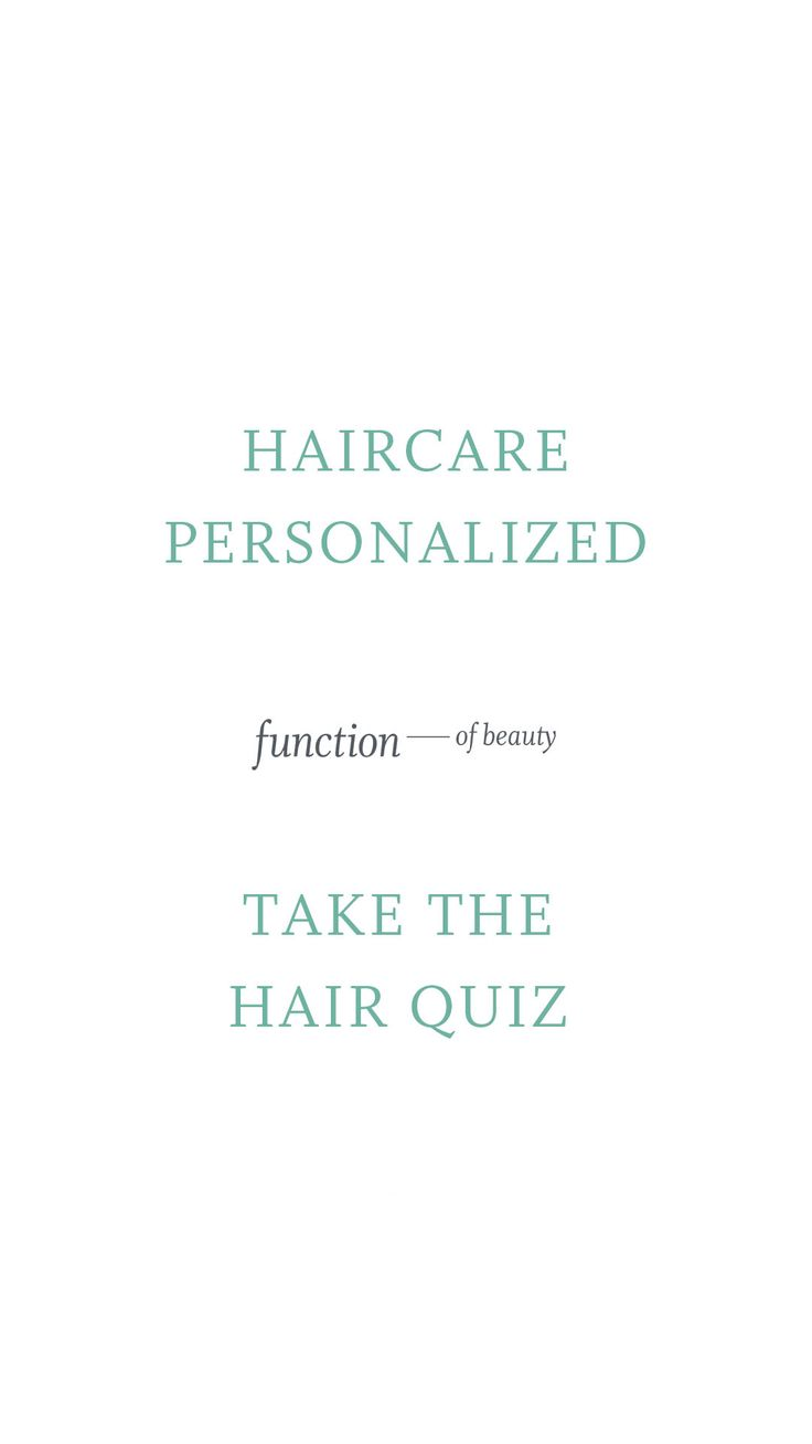 Personalized haircare based on you hair type, goals and preferences. Made by you with your name on the bottle. Start by taking your hair quiz now!
