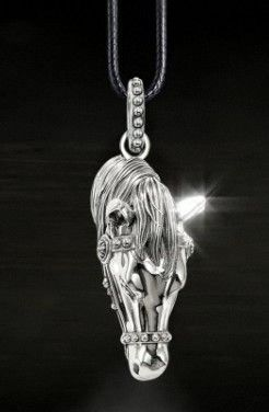 925 sterling silver horse necklace