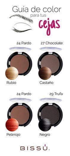 Elige el tono perfecto para tus cejas de acuerdo al color de tu cabello.  Nos encanta :) We Love :)