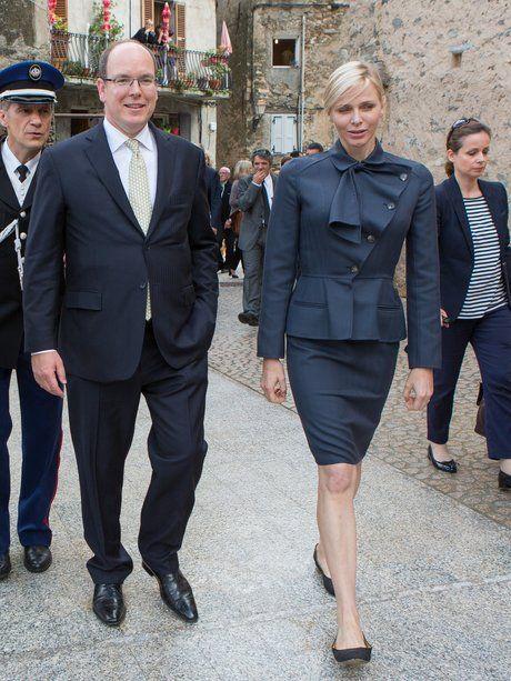 Mai 2013 Fürst Albert und Charlène besuchen offizi...