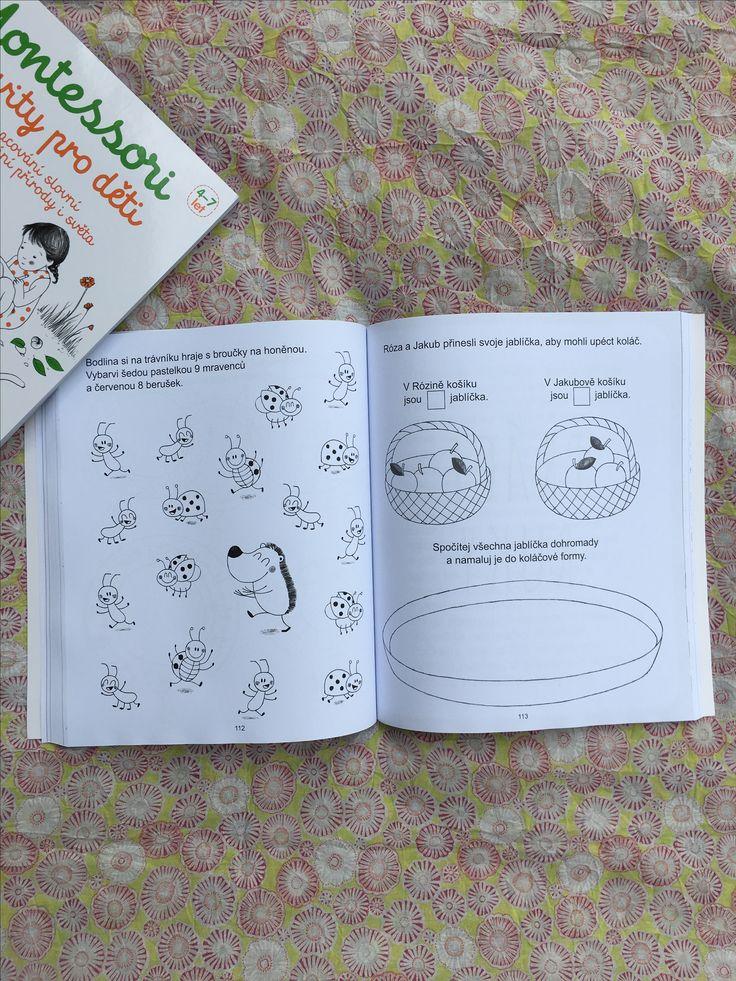 Tato knížka je plná různých činností pro děti od 4 do 7 let, inspirovaných metodou Montessori. Formou her se v ní děti naučí lépe porozumět světu kolem nás. #kniha #montessori #aktivity #deti