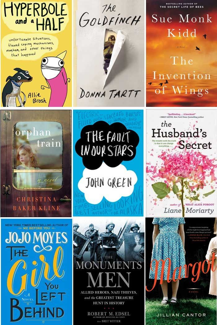 9 books to read in 2014 -  I have only   read Fault in Our Stars- so must look for the others- I needed some reading   suggestions!