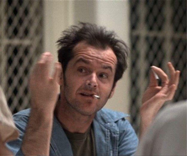 One flew over the cuckoo's nest (1975 - regia: Miloš Forman) - Jack Nicholson