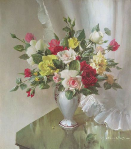 Vernon Ward - Roses in July
