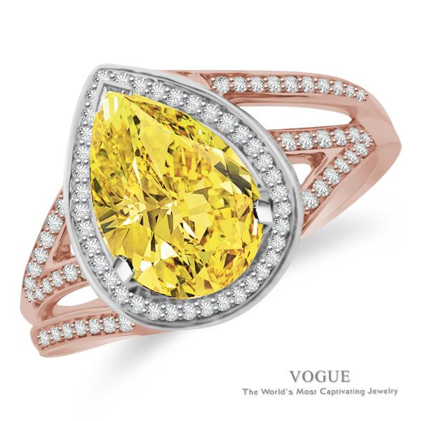 """Item Details: SRR18945 R81/0..20CT 14KWP 9X7PS  Show her that she is your """"Everything"""" with our raised pear shaped halo by-pass ring. Center Stone will be a 9x7mm pear shape accented by 0.20cts of Ideal Cut diamonds, F-G Color, SI1 Clarity are set in 14Kt White, Pink, and/or Yellow Gold. Matching band is available as special order"""