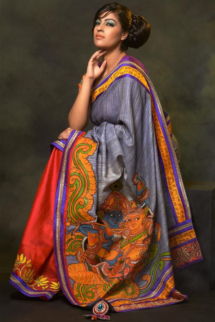 #designerwear #exclusive #saree #krishna #Indian #elegant