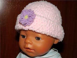 Tejido a crochet : Gorro para bebé de ganchillo