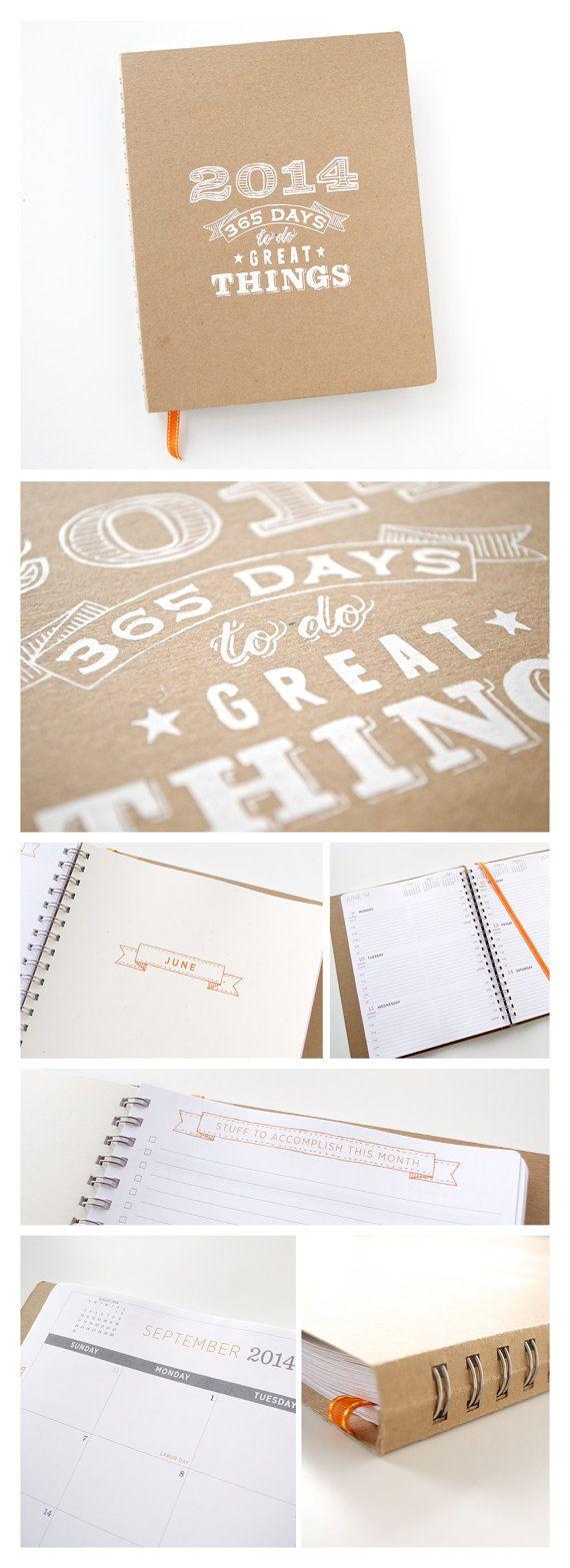 Awesome :: 2014 Planner Large Agenda Calendar by GirlinGearStudio