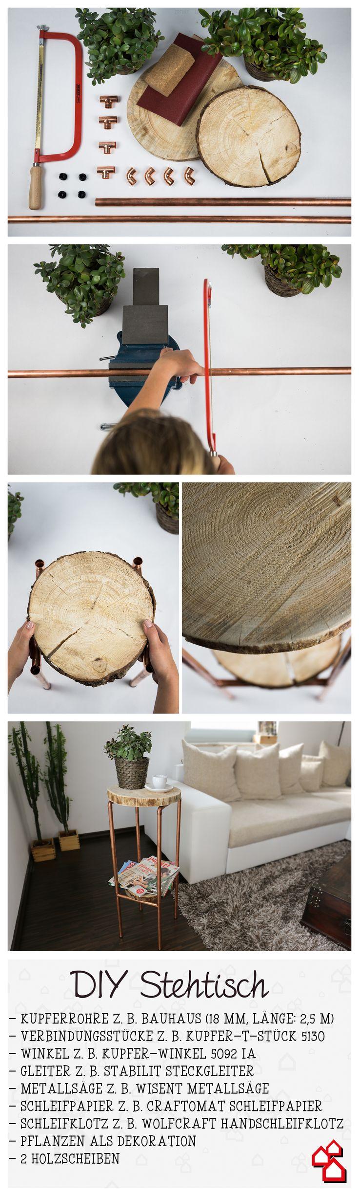 Der moderne #DIY Holztisch bringt Stil und Gemütlichkeit in Deinen Wohnraum. Ganz einfach zum Selbermachen :-)