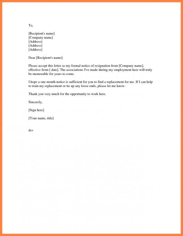 Examples Of Letter Of Resignation Business Letter Template