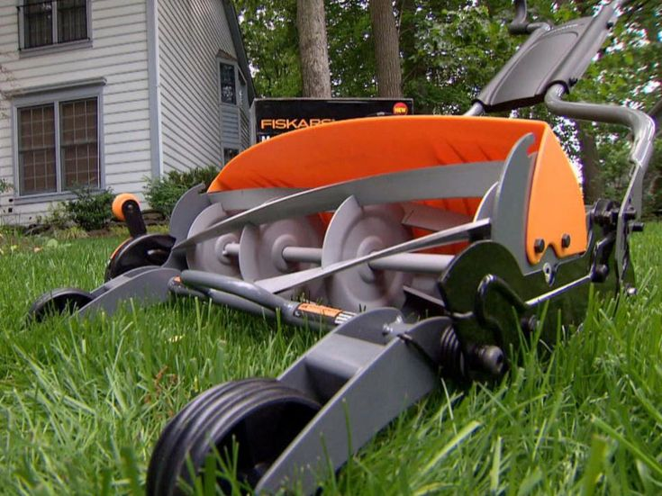 "Want to make the most out of your outdoor entertaining space? Click in to view these cool products as seen on DIY Network's ""I Want That,"" including the self-powered Fiskars Reel Mower, to find a little inspiration."
