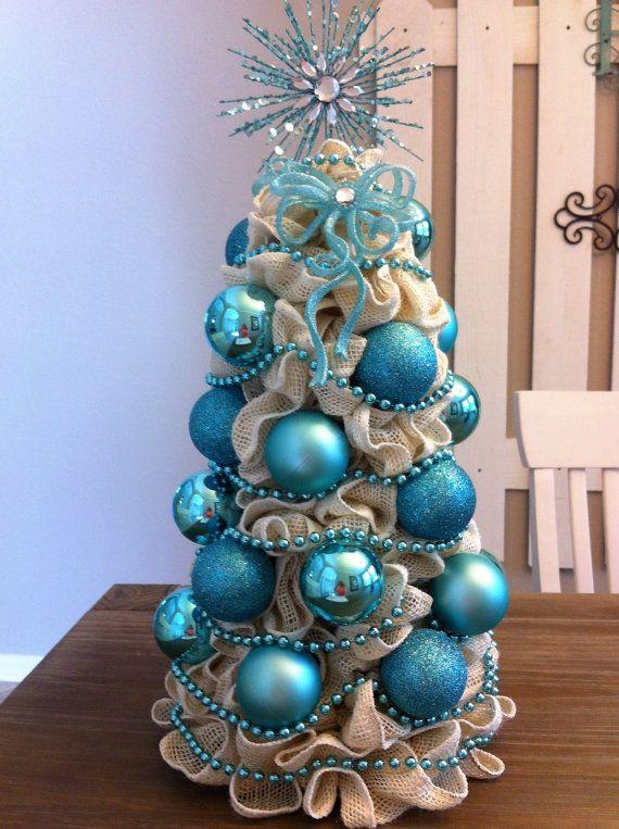 Sale Ivory/White Burlap Christmas Tree with by HopesHeartGifts