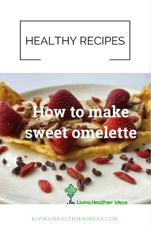 Looking for an healthy recipe to make a sweet and high protein breakfast or dessert? Learn how to make dairy-free and refined-sugar free sweet omelette