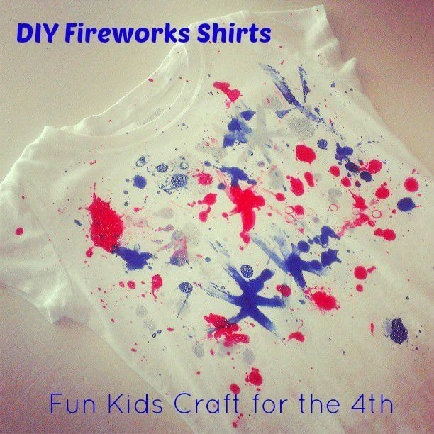 4th of july painted shirt