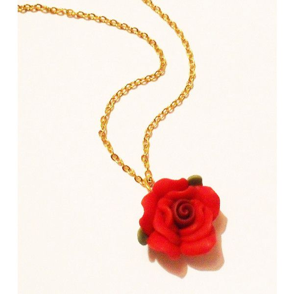 ... red, rose gold tone jewelry, red jewelry, jewel necklace, rose g