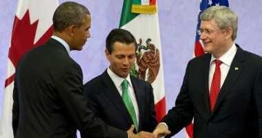 Obama Presses North American Union With Mexico, Canada