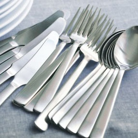 Dinner fork, dinner knife, and dinner spoon. Kay Bojesen Grand Prix cutlery/flatware