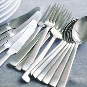 Dinner fork, dinner knife, and dinner spoon. Kay Bojesen Grand Prix cutlery/flatware