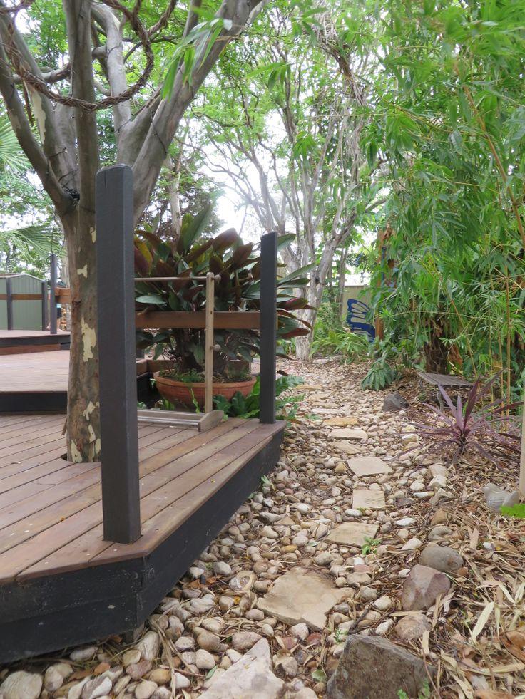 Our garden walk way