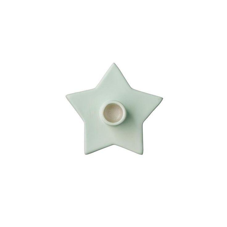 bloomingville lysestake stjerne mint liten   Ting
