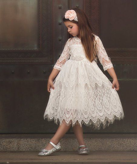 8eafce6fd1fc Trish Scully Child White Bella Rafaella Dress - Infant