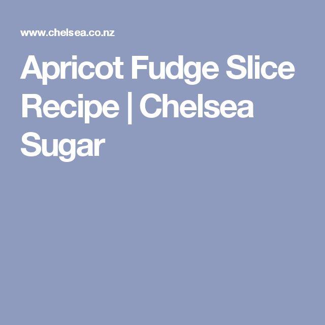Apricot Fudge Slice Recipe | Chelsea Sugar