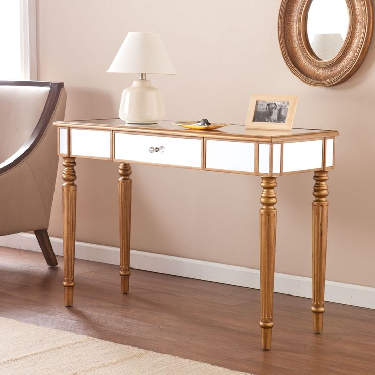 27 Best Images About Vanity On Pinterest Sofa End Tables Mirrored Accent T