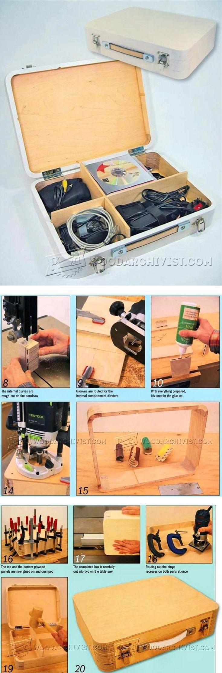 Wooden Attache Case Plans - Woodworking Plans and Projects | WoodArchivist.com