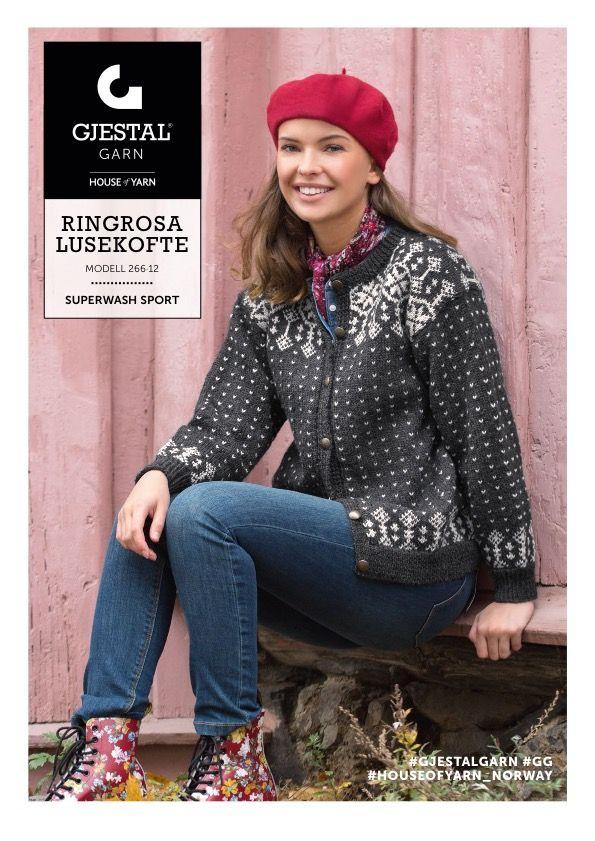 Dagens gratisoppskrift: Ringrosa Lusekofte | Strikkeoppskrift.com