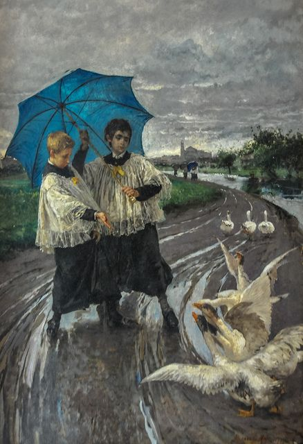 Mosè Bianchi - Il ritorno della sagra 1887