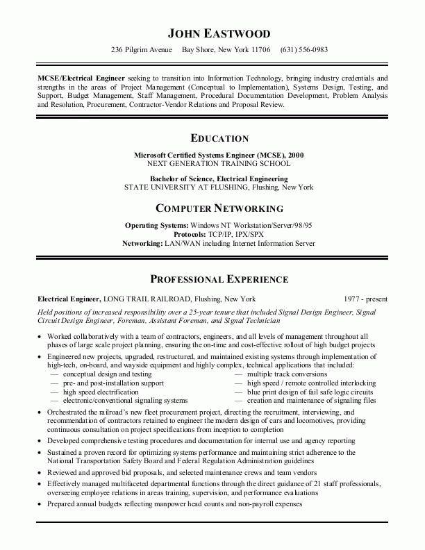 best 25 resume template ideas on pinterest my - Windows Engineer Sample Resume