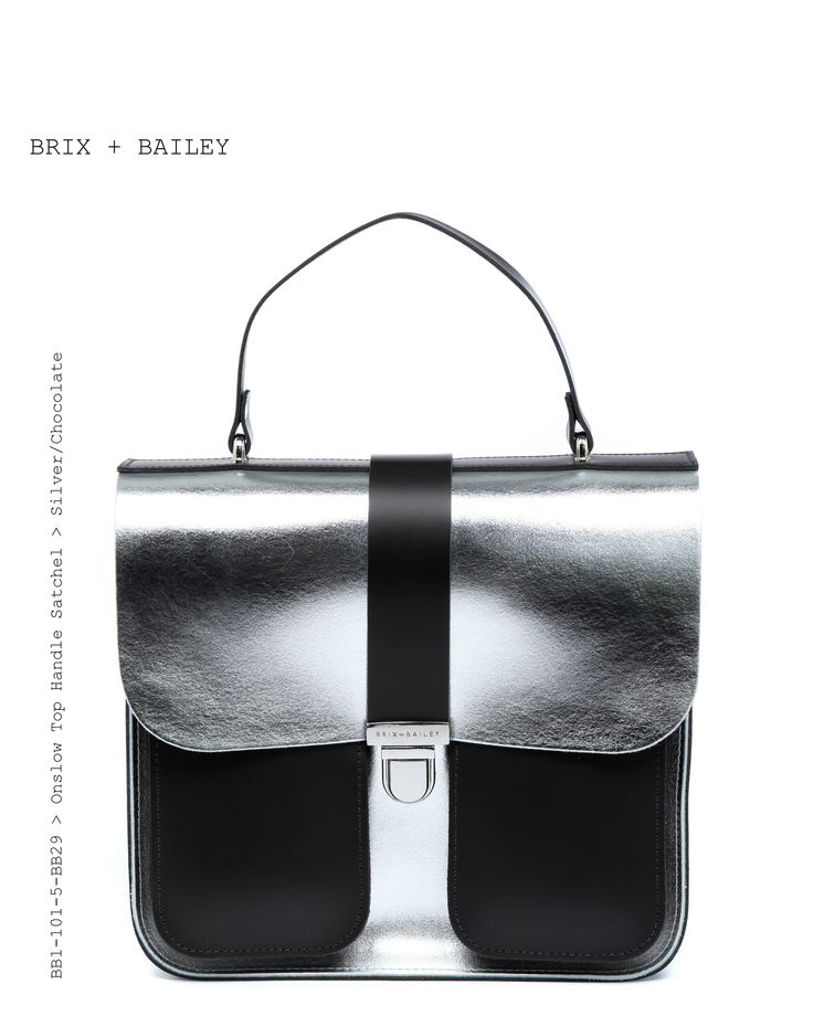Brix + Bailey Onslow Top Handle Leather Satchel - Silver/Chocolate - www.brixbailey.com, Beautiful Leather Handbag from the upand coming Handbag brand Brix + Bailey - Onslow Top Handle Bag Chestnut/Croc - www.brixbailey.com, Brix + Bailey (@brixandbailey) | Silver Leather Structured Bag. Designed in London and New York, www.brixbailey.com Collab Naomi Isted, Licenisng www.thisisiris.uk