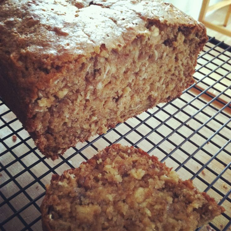 Super Yummy Whole Wheat Banana Oatmeal Bread | Sub the sugar with a clean sweetener.