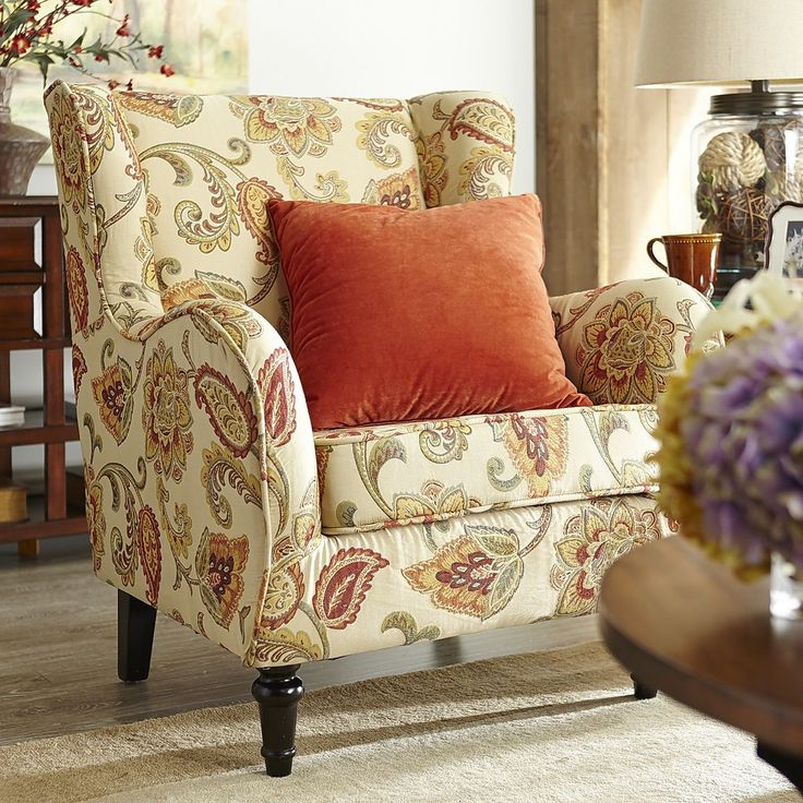 Claudio Wing Chair Jacobean Ochre Pier 1 Imports