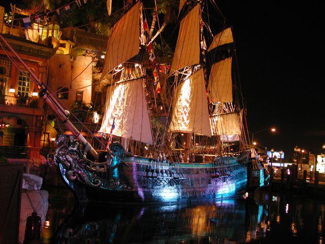 Pirate Battle In Front Of Treasure Island Ti