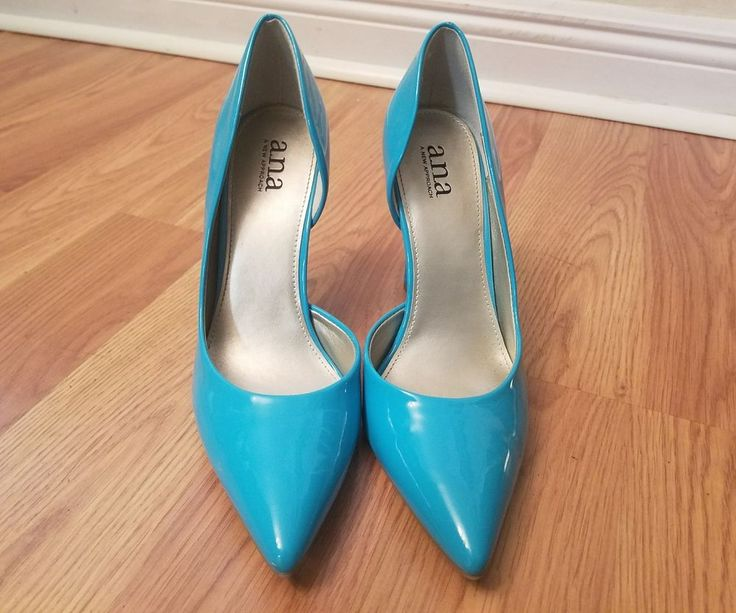 a.n.a. Claire Patent Leather Teal Blue Pumps Size 8.5 | Clothing, Shoes & Accessories, Women's Shoes, Heels | eBay!