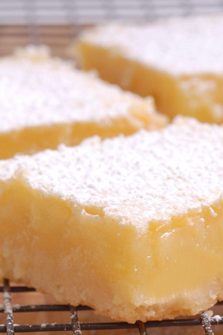 """Low Carb Lemon """"cheesecake"""" Bars.  Use full fat cream cheese for lower carbs."""