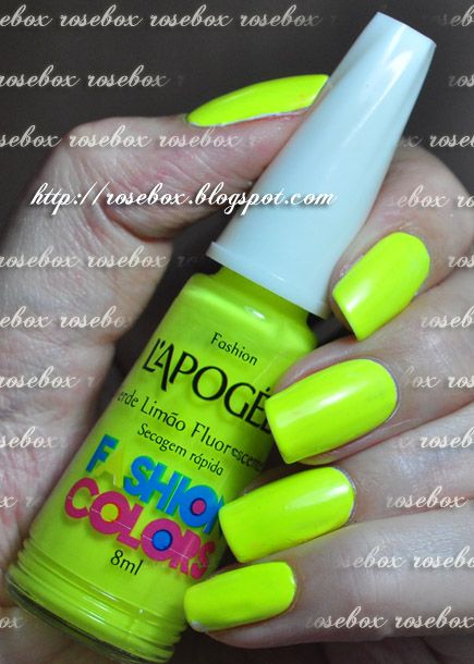 RoseBox: Unhas fluorescentes