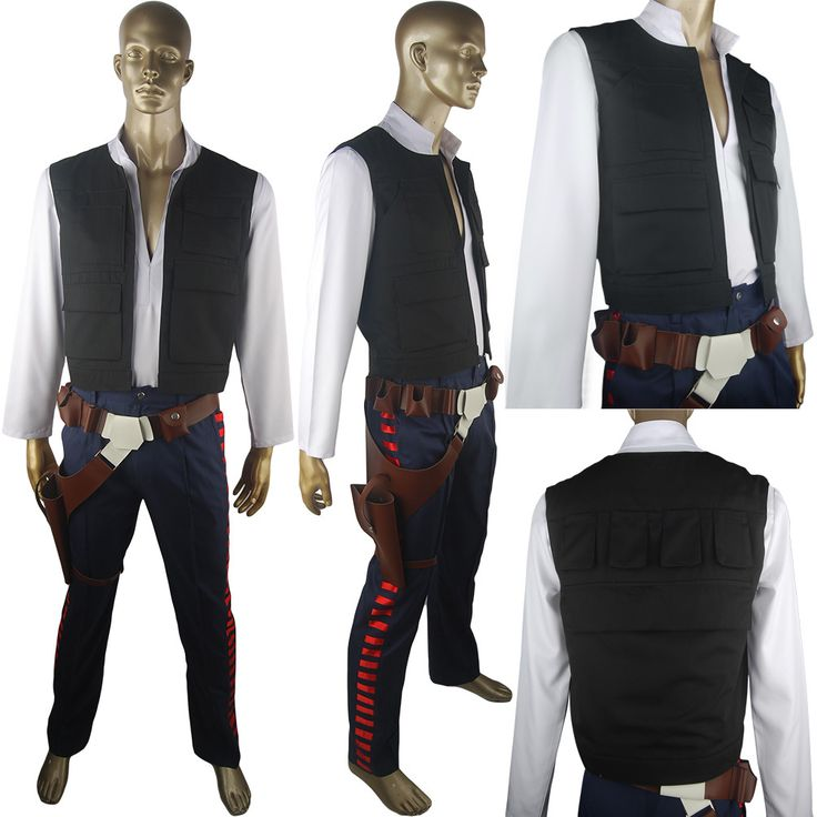 Star Wars Han Solo costume vest belt holster droid halloween costume xmas gift for adults children party costume anime comic-con costume everyday use