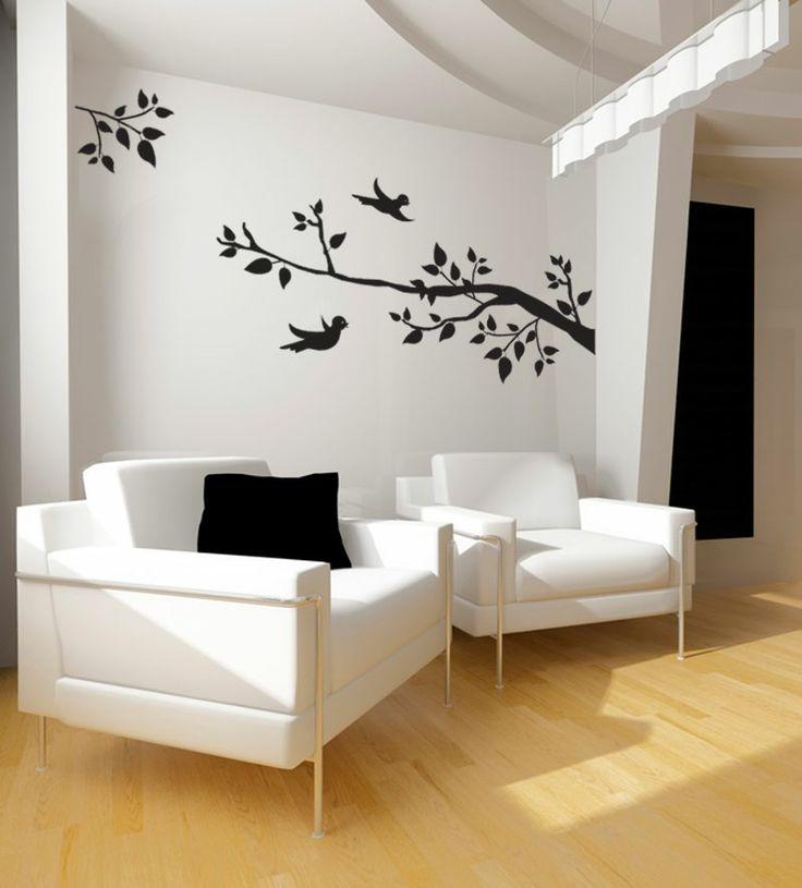 Le sticker branche aux oiseaux sintégrera parfaitement à une décoration nature et contemporaine il est composé dun grand sticker branche dune petite