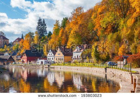 Idyllic autumnal life in Cesky Krumlov, Czech Republic by 2xSamara.com, via Shutterstock