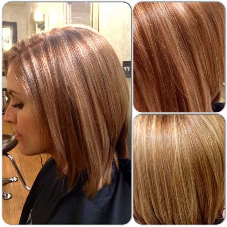 light reddish brown with blonde highlights red hair