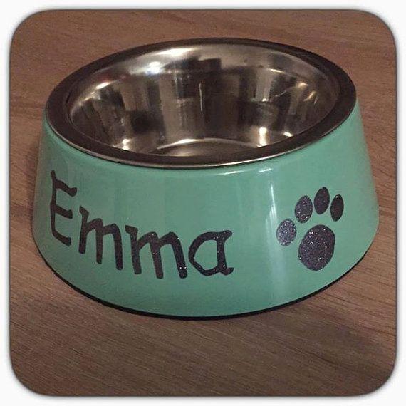 Hundenapf / Katzennapf mit Namen von InVotum auf Etsy