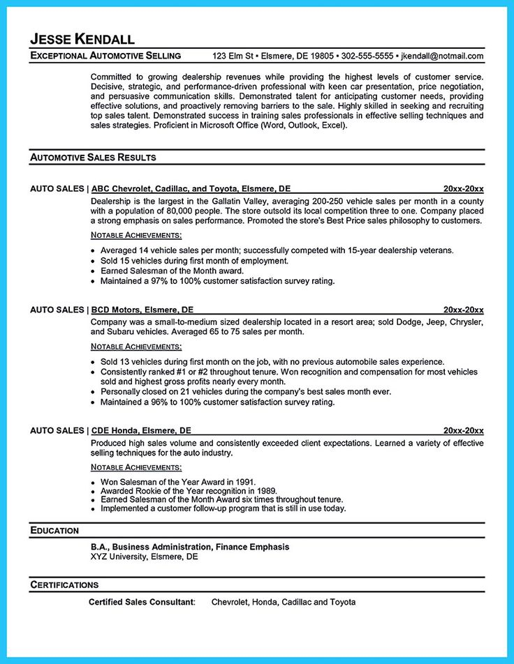 car salesman resume 1000 ideas about sales resume on sales 1301