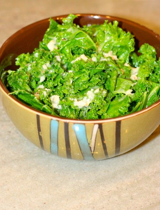 steamed kale mmm food food fun garlic dressing hail creamy garlic ...